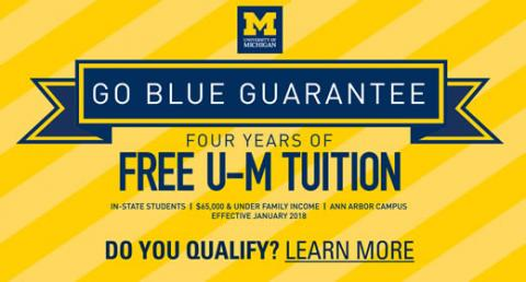 Go Blue Guarantee promotional graphic