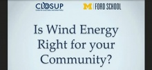 Link to:Is Wind Energy Right for Your Community? Lessons from Michigan's Windfarms