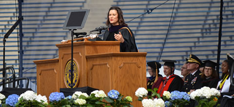 Link to:Governor Gretchen Whitmer – University of Michigan 2019 Commencement