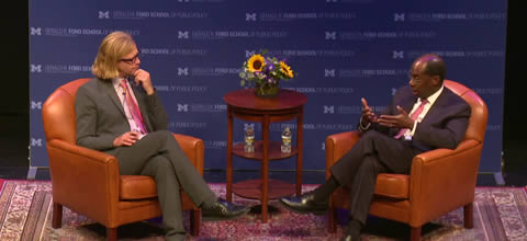 Link to:A conversation with Roger Ferguson, hosted by Justin Wolfers